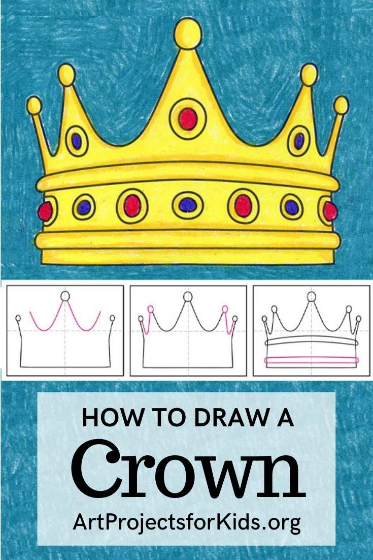 How To Draw A Crown In 6 Steps : Learn To Draw