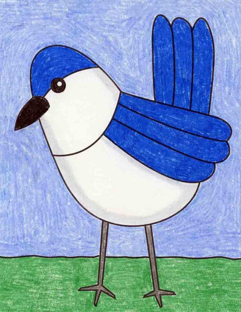 draw an easy bird