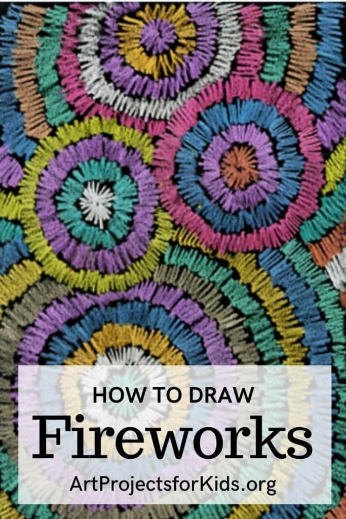 how to draw fireworks