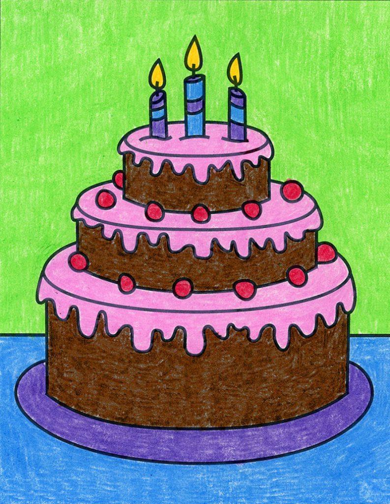 How to Draw Birthday Cake