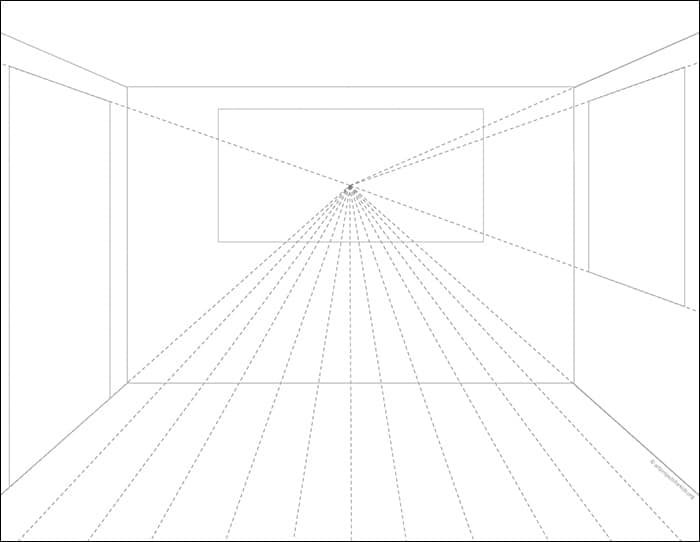 Draw a Room in One Point Perspective