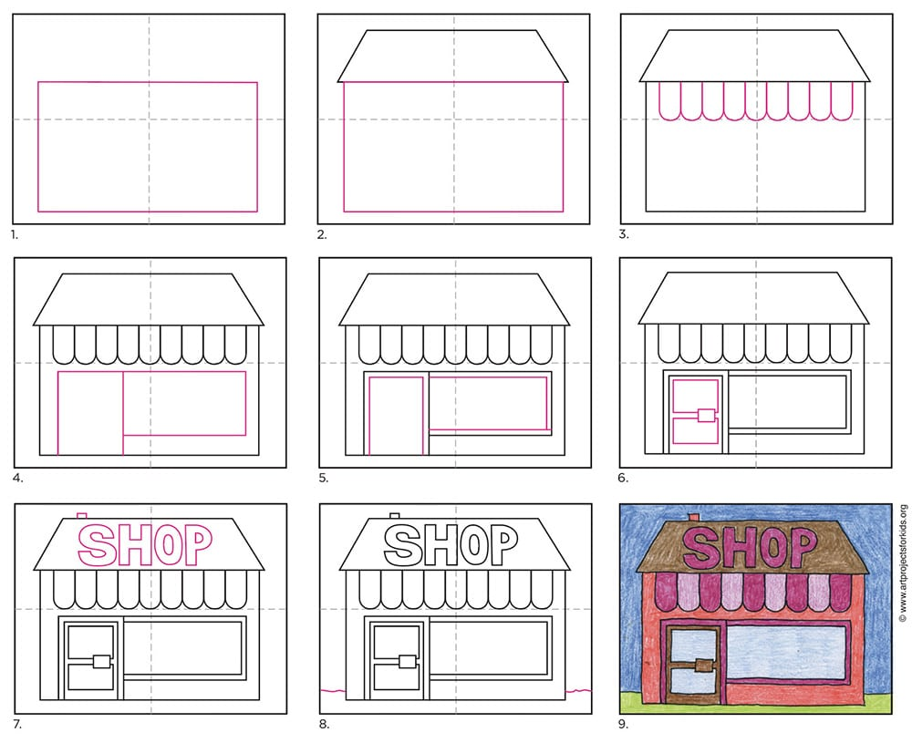 How to Draw a Shop