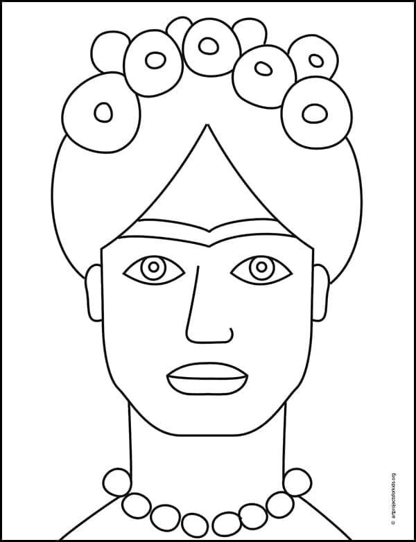 Frida Kahlo Coloring Page