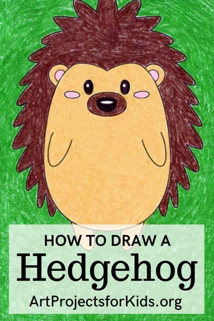 Hedgehog for Pinterest – Activity Craft Holidays, Kids, Tips