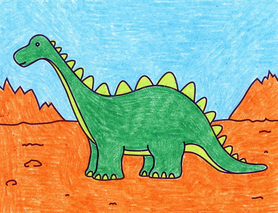 cách vẽ một con khủng long dễ dàng