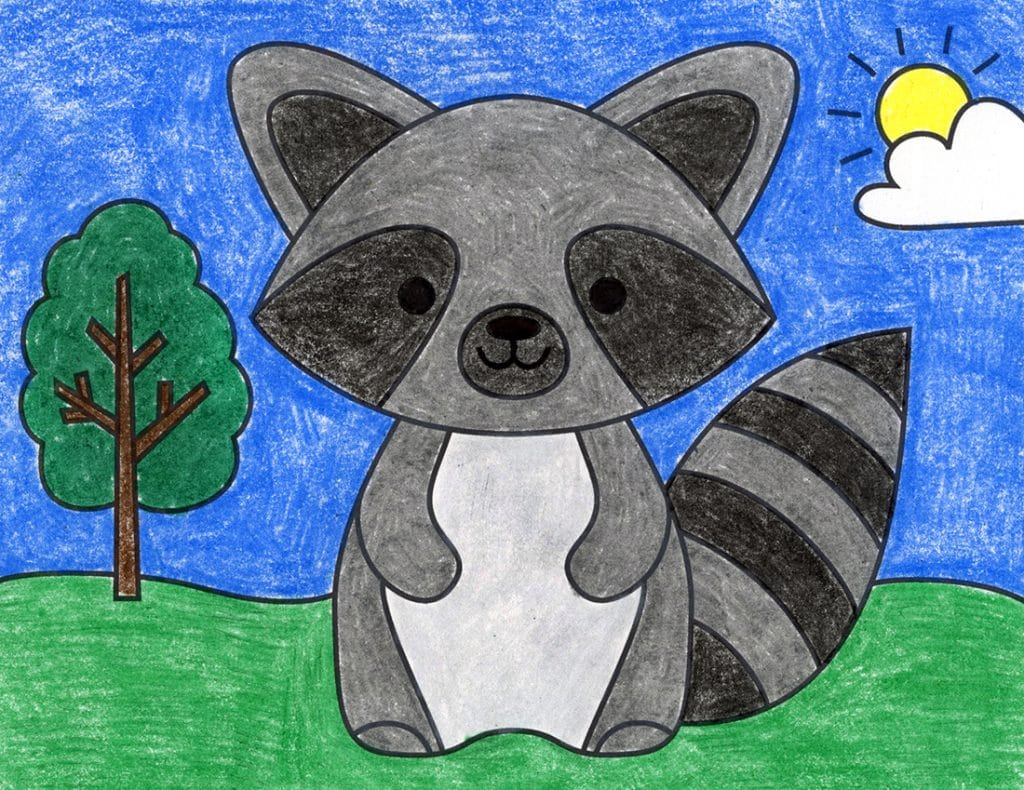 Draw a Raccoon Feature – Activity Craft Holidays, Kids, Tips
