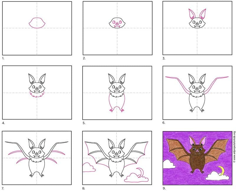 Inside you'll find an easy step-by-step how to draw a bat tutorial and bat coloring page. Stop by and download yours for free.