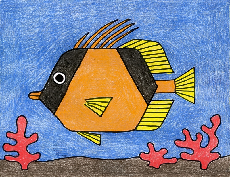 Learn how to draw a Tropical Fish with a step by step tutorial.