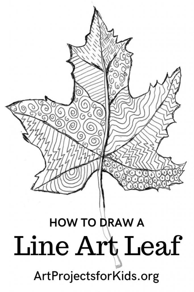 Save this Line Art Leaf project to your Pinterest board.