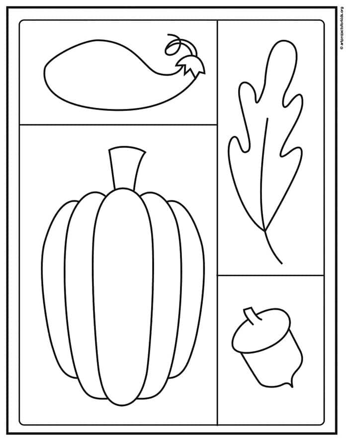 Fall Drawing Coloring page, available as a free download.