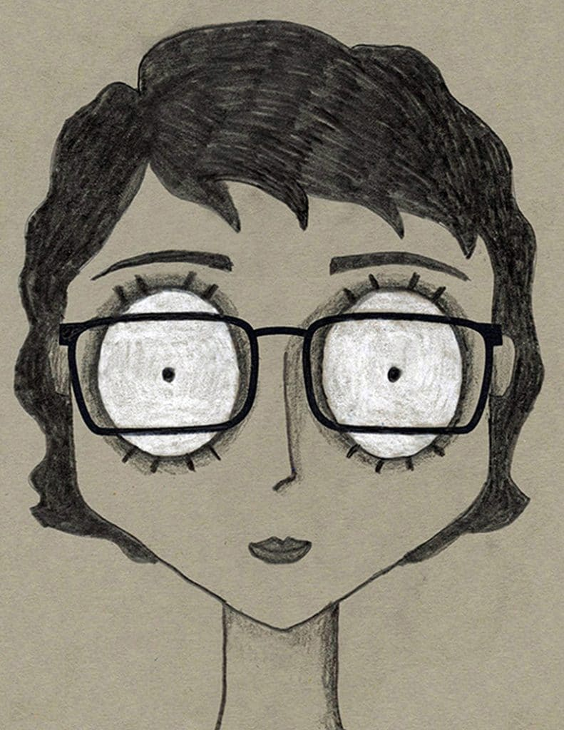 A drawing of a Nightmare Self Portrait, made with the help of an easy step by step tutorial.