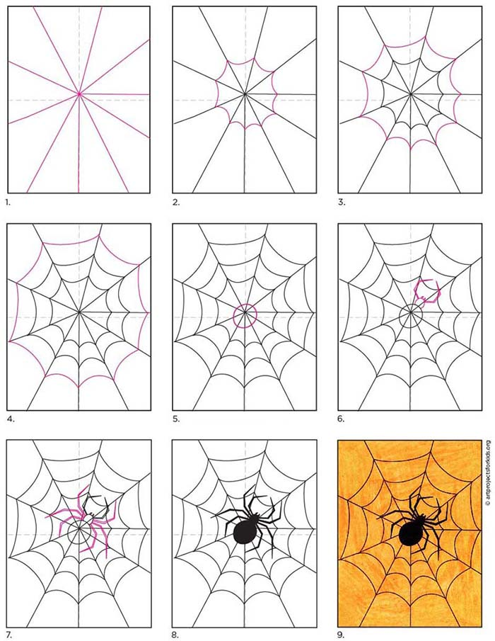A step by step tutorial for how to draw an easy spider, also available as a free download.