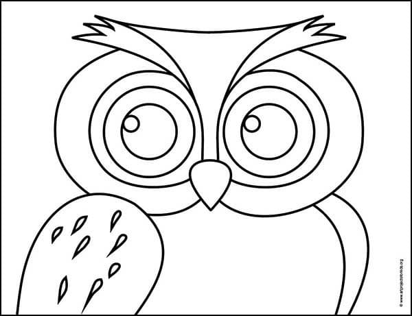 Owl Coloring page, available as a free download.